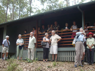 Gathering at the Hut