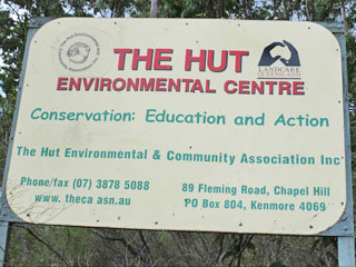 The Hut Signage